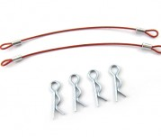 "Zeppin Racing Red ""EASY PULL"" Body Pin Wire 100mm 1Pr"