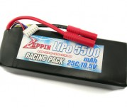 Zeppin Racing 18.5v 25C 5500mah Lipo with gold bullet 4mm with extra T plug
