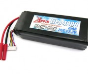 Zeppin Racing 22.2v 25C 4800mah Lipo with gold bullet 4mm with extra T plug