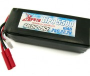 Zeppin Racing 22.2v 25C 5500mah Lipo with gold bullet 4mm with extra T plug
