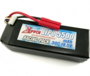 Zeppin Racing 18.5v 30C 5500mah Lipo with gold bullet 4mm with extra T plug