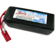 Zeppin Racing 22.2v 30C 5500mah Lipo with gold bullet 4mm with extra T plug