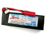 Zeppin Racing 18.5v 35C 3200mah Lipo with gold bullet 4mm with extra T plug