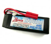 Zeppin Racing 18.5v 35C 4000mah Lipo with gold bullet 4mm with extra T plug