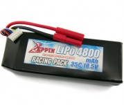 Zeppin Racing 18.5v 35C 4800mah Lipo with gold bullet 4mm with extra T plug