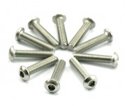 Zeppin Racing Hex Button Head Stainless Steel Screw M3x18 10pc