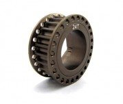 Zeppin Racing 7075 T6 Hardcoated 24T Pulley For Mugen MRX-5