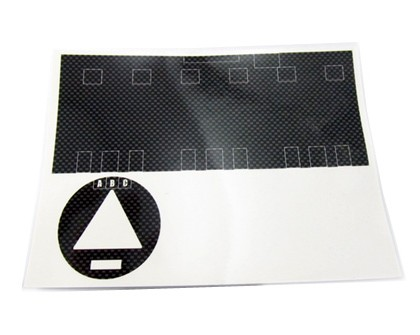 Zeppin Racing Motor Sticker For Team Orion brushless motor Carbon