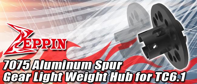 Zeppin Racing 7075 Aluminum Spur Gear Light Weight Hub for TC6.1