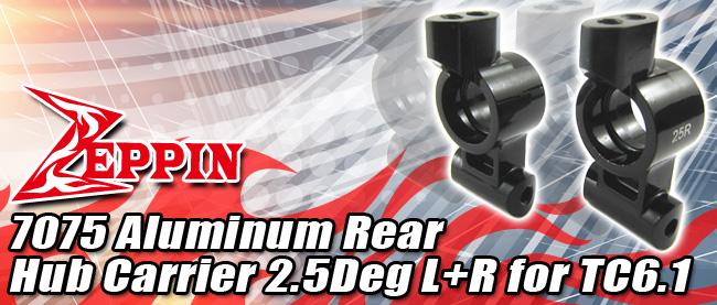 Zeppin Racing 7075 Aluminum Rear Hub 2.5Deg L+R for TC6.1