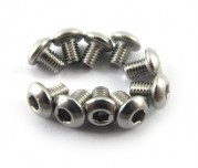 Zeppin Racing Hex Button Head Stainless Steel Screw M3X4 10pc