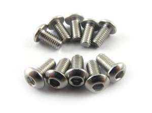 Zeppin Racing Hex Button Head Stainless Steel Screw M3X6 10pc