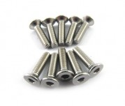 Zeppin Racing Hex Flat Head Stainless Steel Screw M3X12 10pc