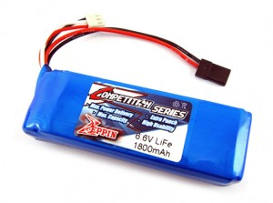Zeppin Racing LiFe 1800Mah 6.6v RX Battery Flat Pack