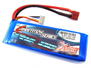 Zeppin Racing 14.8v 20C 2400mah LiPo – Prefect for Starter Box