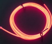 Zeppin Racing Red EL Flex Wire Light 1.5M
