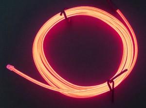 Zeppin Racing Red EL Flex Wire Light 1.5M